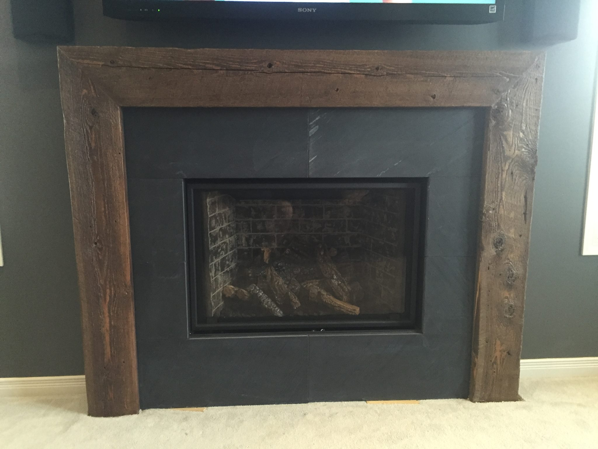 sided l services new edge black inspire chrome fireplace fs valor ho liner greenfield trim