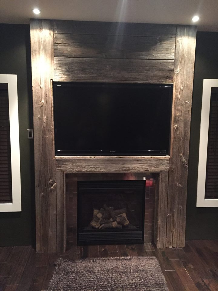 Fireplaces Jmf Custom Wood Features L Barndoors