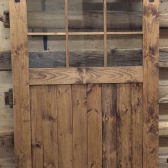pine-stained-barndoor-with-glass