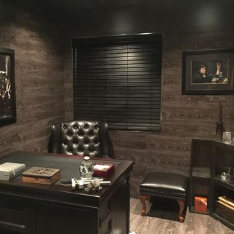 floor-wall-and-ceiling-cladded-with-laminte-tongue-and-groove-for-man-cave-office