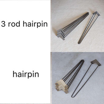 3 rod hairpins price list - U steel table legs - X steel table legs - Metal Table Legs