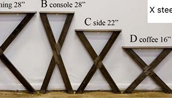 X steel table legs - Metal Table Legs