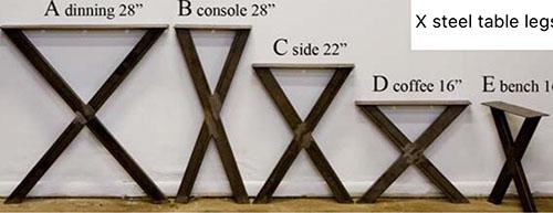 Metal Table Legs Price List Jmf Custom Wood Features L Barndoors